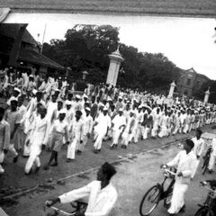 QUIT INDIA-Procession at Bangalore in front of Central College.