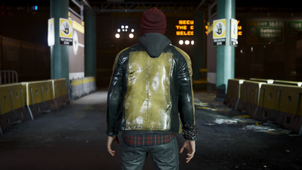 Delsin wearing Cole's Jacket
