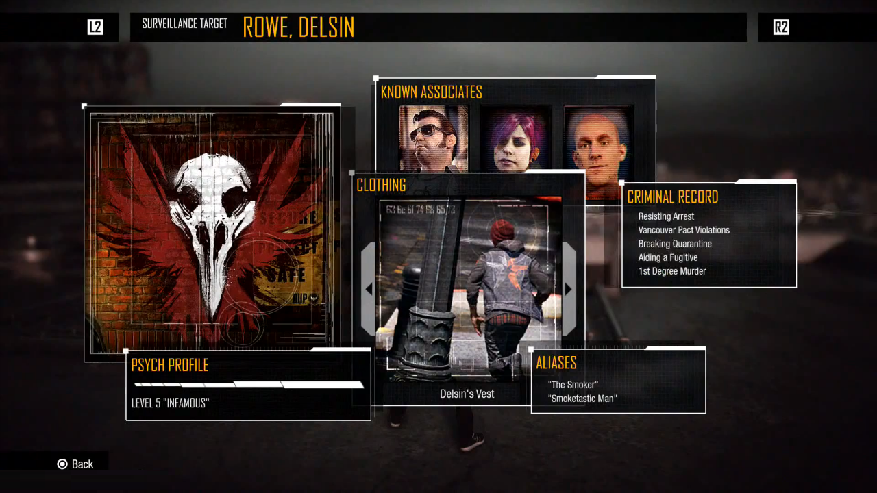 image   clothing selection menu in second son png