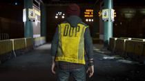 Delsin wearing DUPed vest