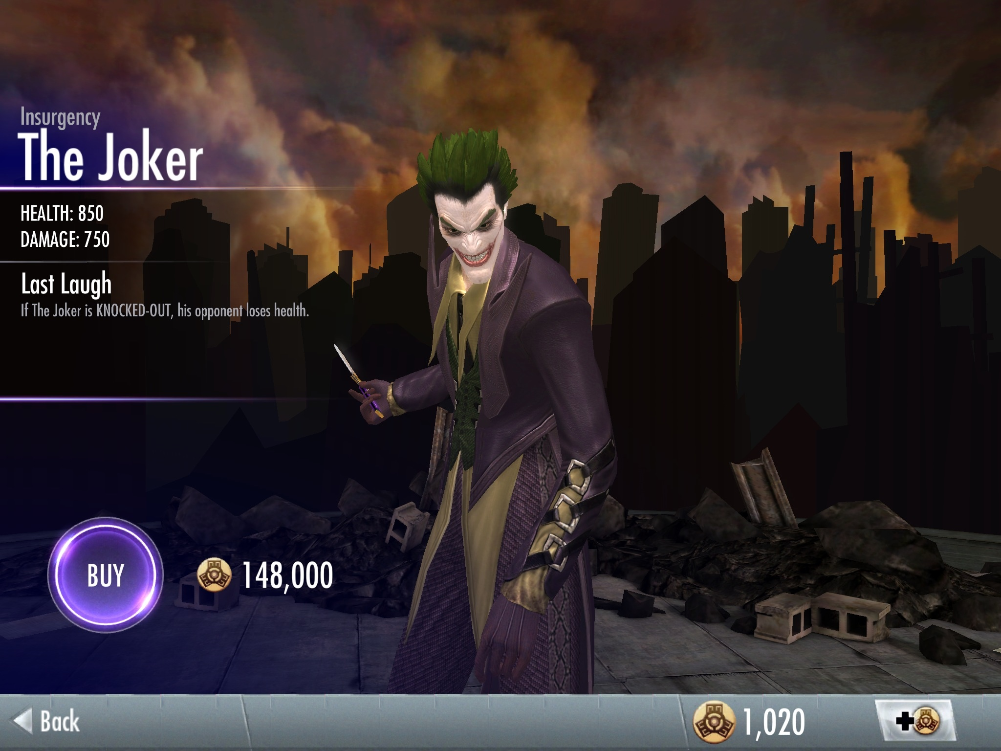 The Joker Injustice Insurgency Size of this preview