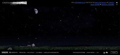 Interstellar website