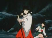 Kikyo shoots an arrow