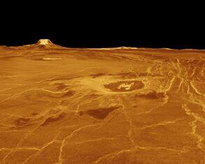PIA00233- Venus - 3D Perspective View of Eistla Regio