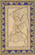 Ottoman Dynasty, Kneeling Angel, by Shah Quli, mid 16th century