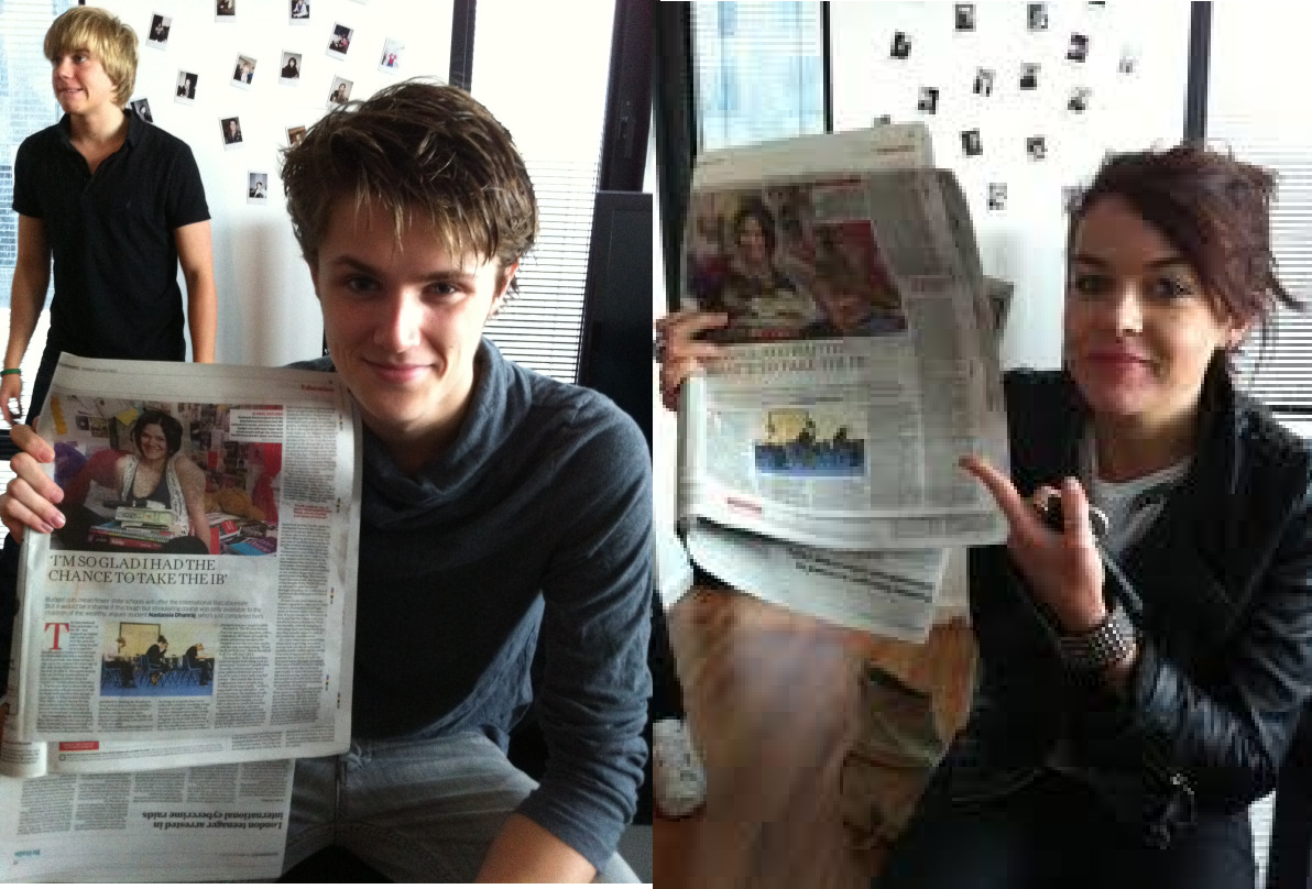 Photo of Eugene Simon & his friend  Jade Ramsey