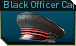 Black officer cap p icon