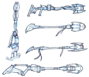 Wastelander weapons concept art