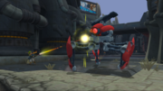 Blast bot in combat