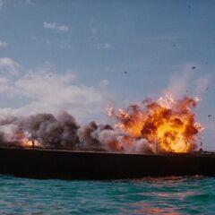 Stromberg's Liparus explodes.