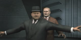 Oddjob protects Goldfinger (GoldenEye - Rogue Agent)