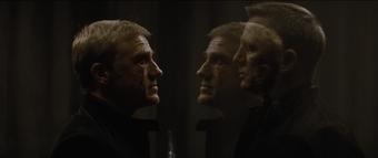 Spectre - 007 and scarred Blofeld