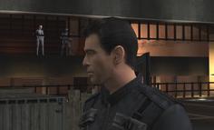 Nadanova ambushes 007 in the elevator shaft (Everything or Nothing)
