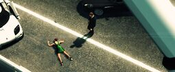 Blood Stone - Nicole lies dead on the roadside