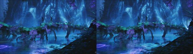 File:Bioluminescent lake (cross).jpg