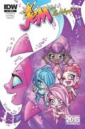 IDW Jem and the Holograms Issue 1 convention edition cover (2)