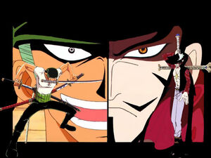 568413-juraquille mihawk and zoro wallpaper 197930