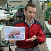 Aaron with flashcard