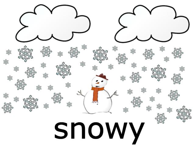 Alfa img - Showing > Snowy Flash Card