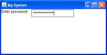 Swing password example 1