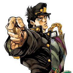Jotaro's color in the game (same as the Anime).