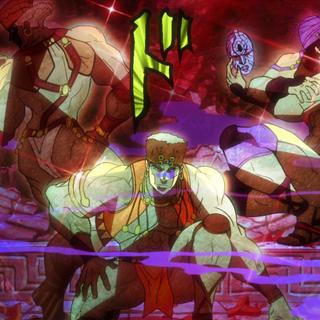 Esidisi freed alongside the rest of the Pillar Men