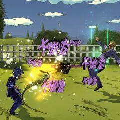 Koichi and ACT2 attacking, <i>EoH</i>