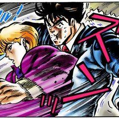 Dio beating Jonathan