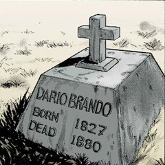 Dario's grave in the manga