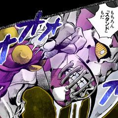 Purple Haze is described as a representation of Fugo's violent side