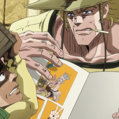 Boingo instructs Hol Horse to insert his fingers into <a href=