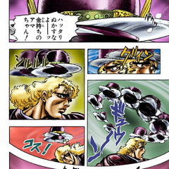 Speedwagon's buzzsaw bowler hat