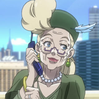 An older Suzi talking with Joseph in the phone