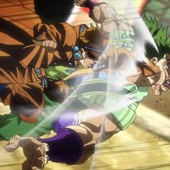 Kid Jotaro pummels Alessi
