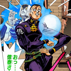 Okuyasu returns from a seemingly fatal injury to save Josuke