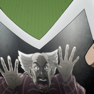 Yoshihiro being trapped within his own Stand's photo.