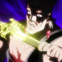 Anubis being unsheathed by Polnareff