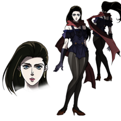 Lisa Lisa's fight clothes concept art in <a href=