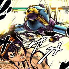 Narancia executing his GHA, <i>ASB</i>