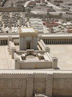 Herod's Temple on Jerusalem model 1358