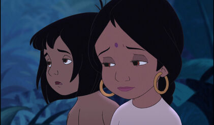 Shanti and Mowgli are sad they must leave