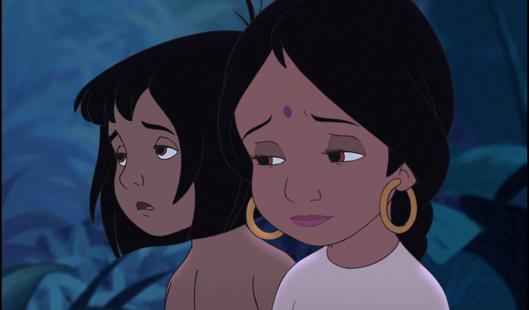 Image - Shanti and Mowgli are sad they must leave.jpg ...