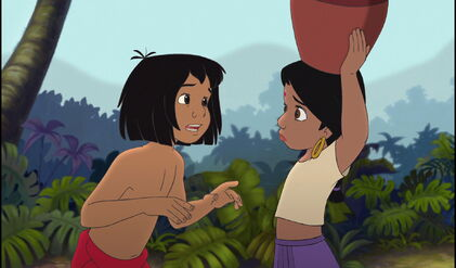 Mowgli is telling Shanti danger is everywhere