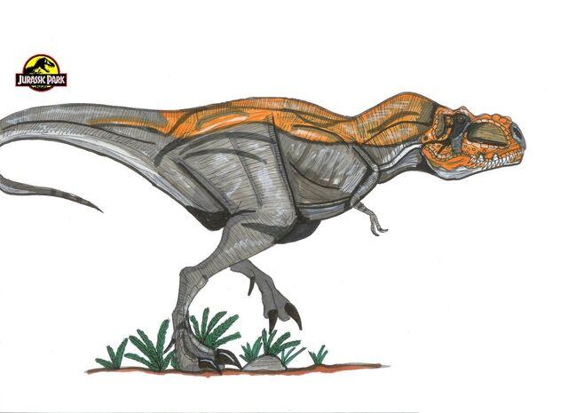 File:Jurassic Park T rex Bull by hellraptor.jpg