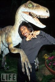 Vanessa with raptor