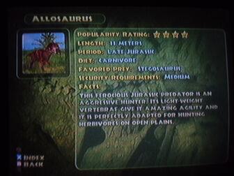 Allosaurus info