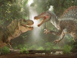 Spinosaurus x T-rex