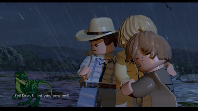 File:LEGO Jurassic World Grant frightened by the Compy MlWA77ypAWMY5jYp9b.jpg