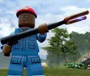 Lego Jurassic World Video Game Jophery Brown