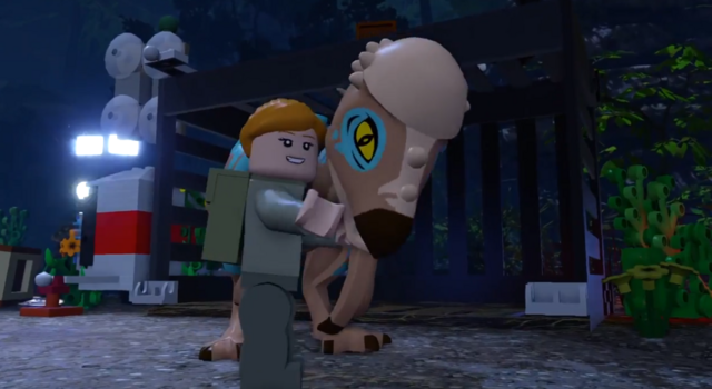 File:LEGO Jurassic World The Videogame Sarah and Dino.PNG